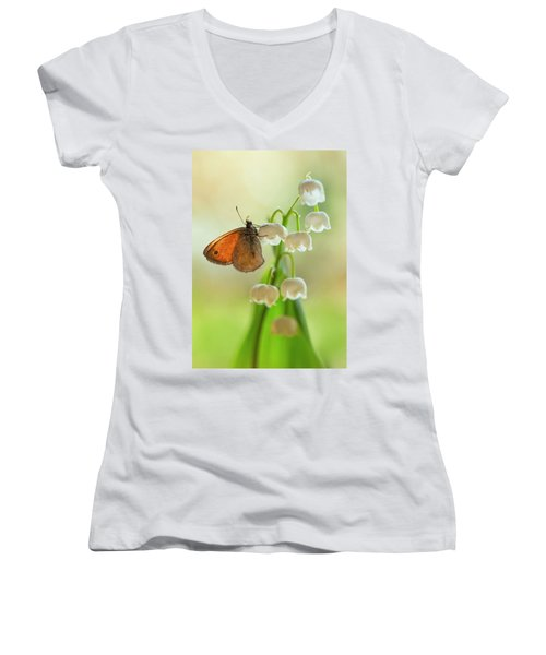 Rest In The Morning Sun Women's V-Neck (Athletic Fit)