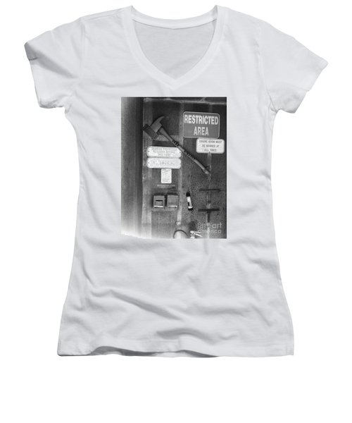 Restricted Area Women's V-Neck T-Shirt