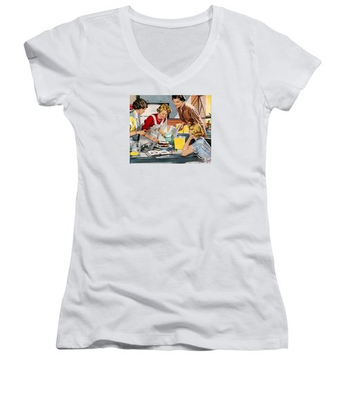 Retro Home Women's V-Neck