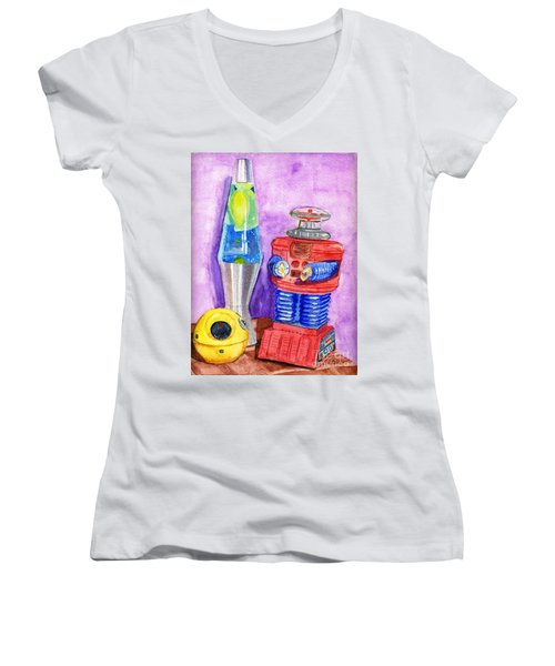 Retro Toys Women's V-Neck