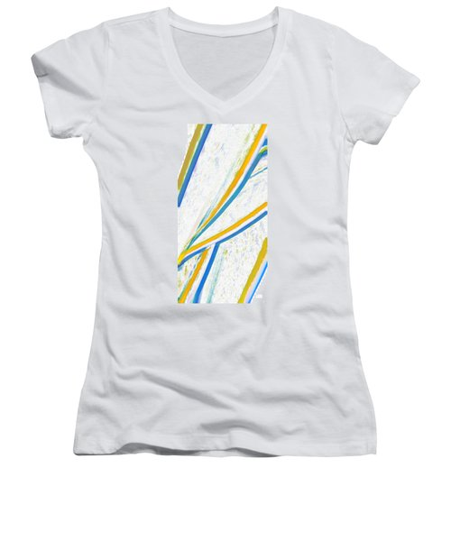 Rhapsody In Leaves No 1 Women's V-Neck T-Shirt (Junior Cut) by Ben and Raisa Gertsberg