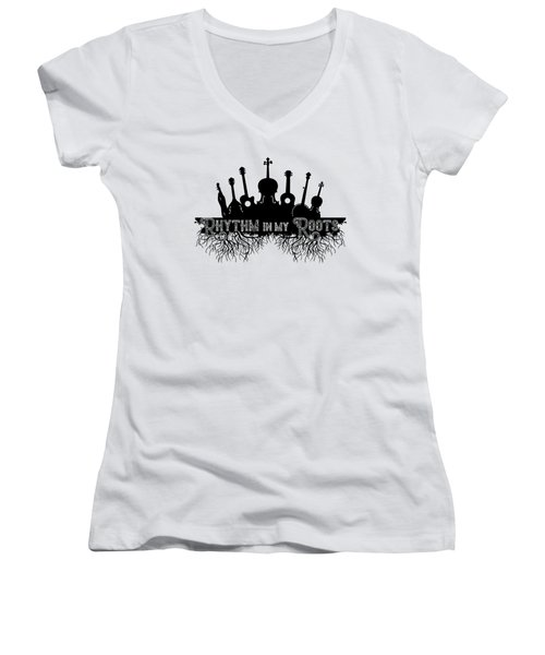 Rhythm In My Roots Women's V-Neck