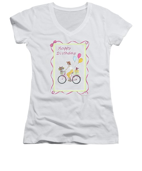 Ride In Style - Happy Birthday Women's V-Neck (Athletic Fit)