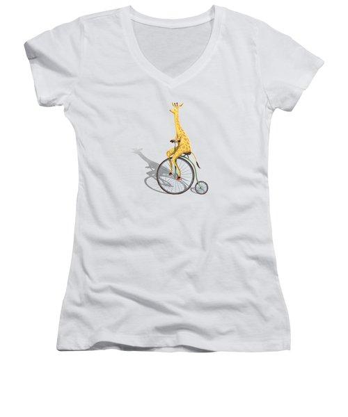Ride My Bike Women's V-Neck