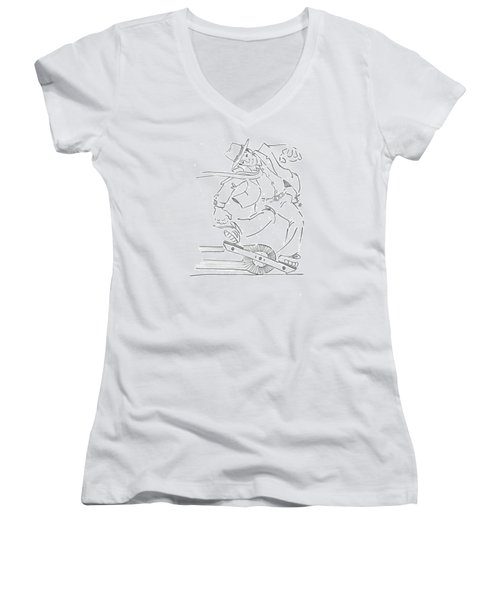 Ride One Wheel Cartoon - Never Be Late Again Women's V-Neck
