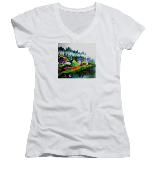 Monte Rio Russian River Women's V-Neck T-Shirt