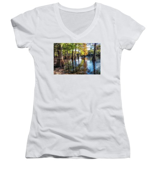 River Eeriness Women's V-Neck (Athletic Fit)