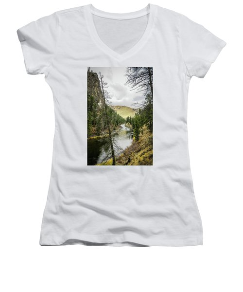 River In The Canyon Women's V-Neck