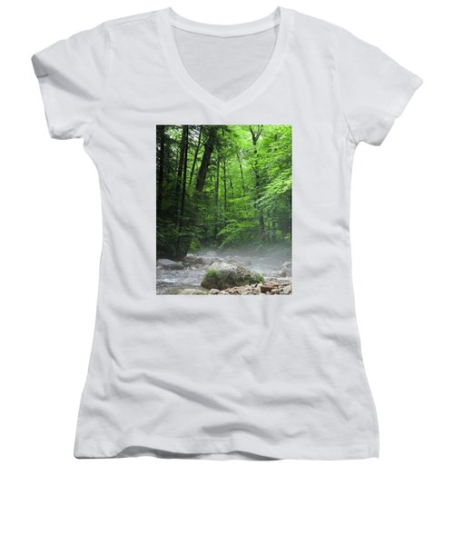 River Mist Women's V-Neck (Athletic Fit)