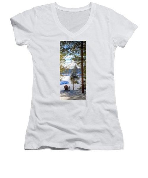 River View Women's V-Neck T-Shirt