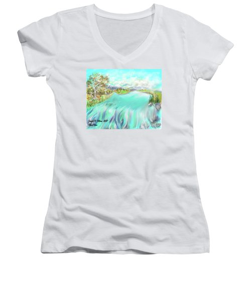 River View Women's V-Neck T-Shirt