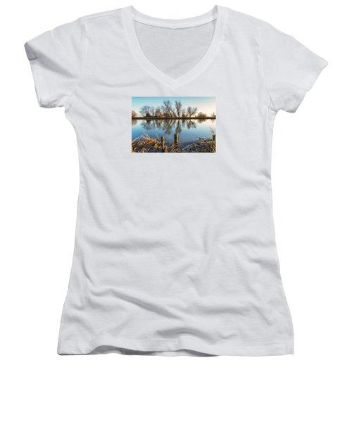 Riverside Trees Women's V-Neck T-Shirt