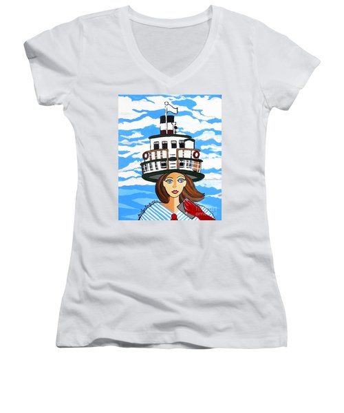 R.m.s. Segwun - Delivering The Mail  Women's V-Neck (Athletic Fit)