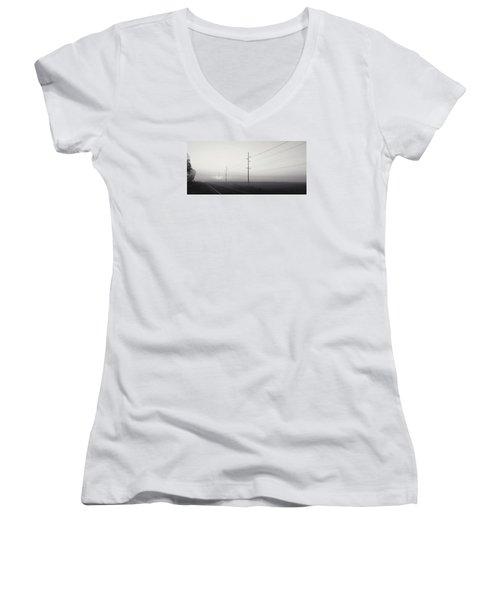 Road To Nowhere Women's V-Neck T-Shirt (Junior Cut) by Sarah Boyd