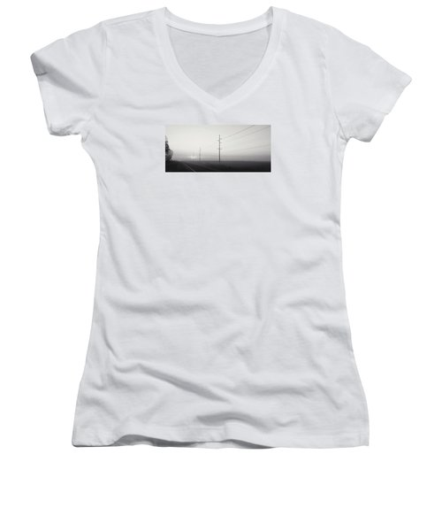 Road To Nowhere Women's V-Neck T-Shirt (Junior Cut)