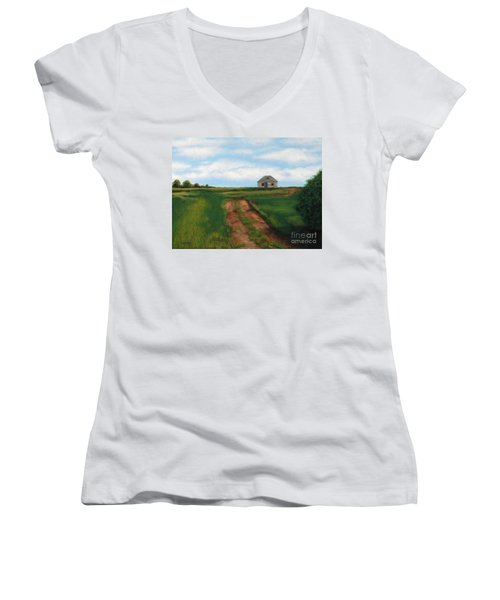 Road To The Past Women's V-Neck T-Shirt (Junior Cut)