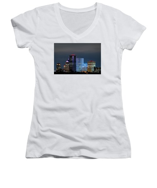 Rochester Ny Twilight Women's V-Neck T-Shirt