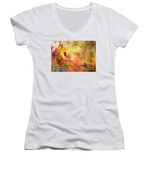 Rock Of Ages Women's V-Neck T-Shirt (Junior Cut)