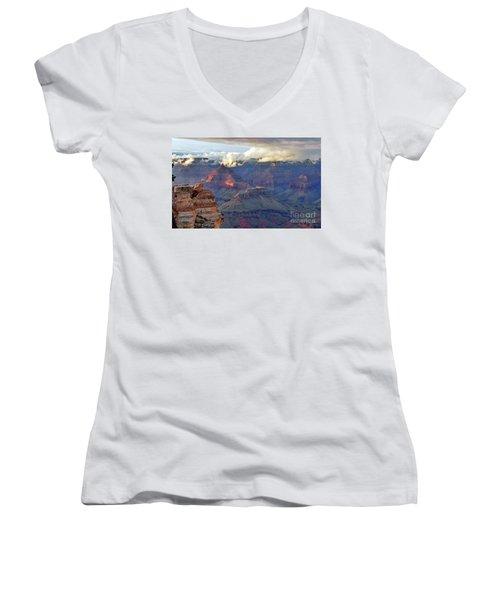 Rocks Fall Into Place Women's V-Neck T-Shirt