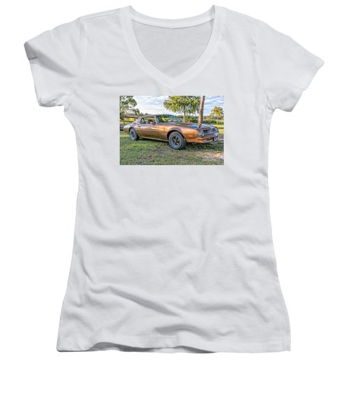Women's V-Neck T-Shirt (Junior Cut) featuring the photograph Rocky Pass by Brian Wright