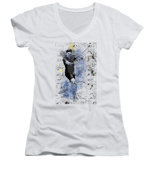 Roger Federer Women's V-Neck (Athletic Fit)