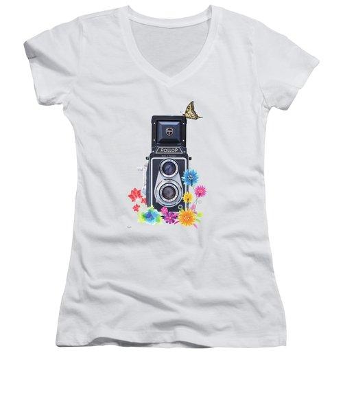 Rollop Women's V-Neck T-Shirt (Junior Cut) by Keith Hawley