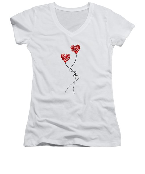 Romantic Art - You Are The One - Sharon Cummings Women's V-Neck T-Shirt
