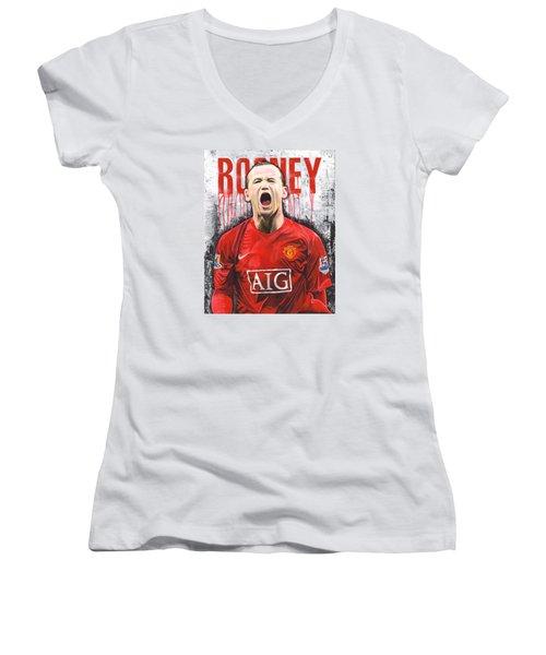 Rooney Women's V-Neck T-Shirt (Junior Cut) by Jeff Gomez