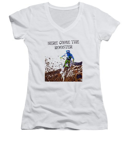 Roosted Women's V-Neck (Athletic Fit)