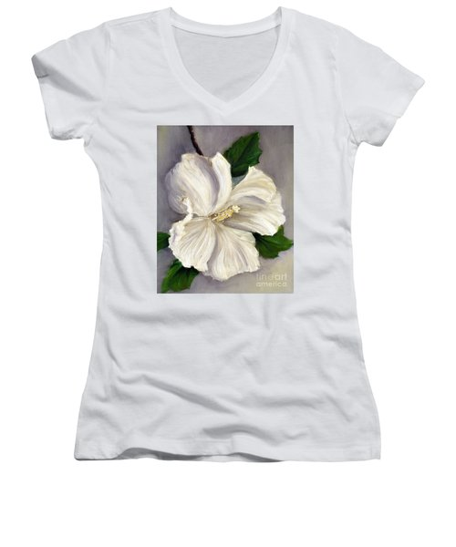 Rose Of Sharon Diana Women's V-Neck T-Shirt (Junior Cut)