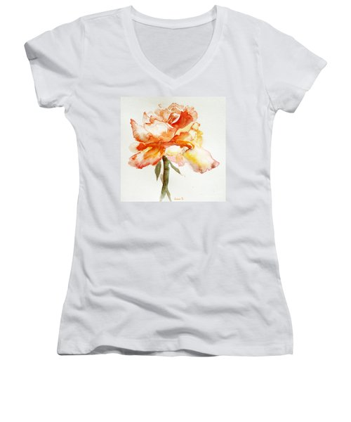 Rose Yellow Women's V-Neck T-Shirt
