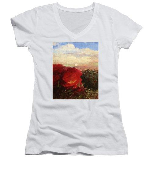 Rosebush Women's V-Neck T-Shirt