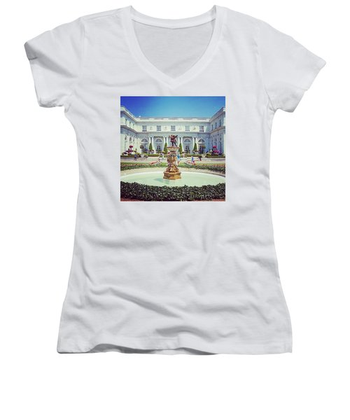 A Luxurious Afternoon  Women's V-Neck (Athletic Fit)