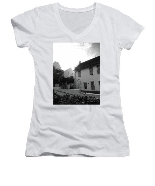 Rosemary Beach Women's V-Neck T-Shirt (Junior Cut) by Megan Cohen