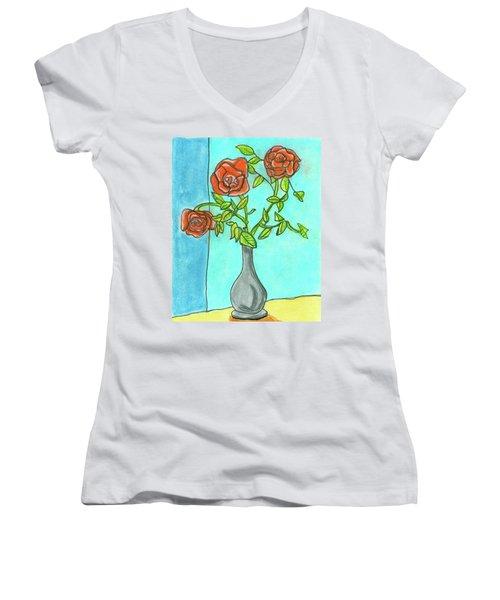 Roses R Red Women's V-Neck T-Shirt