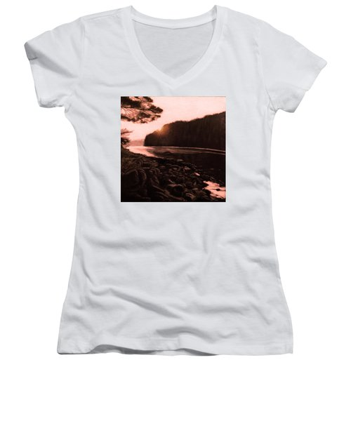 Rosy Glow Of Morning Women's V-Neck T-Shirt
