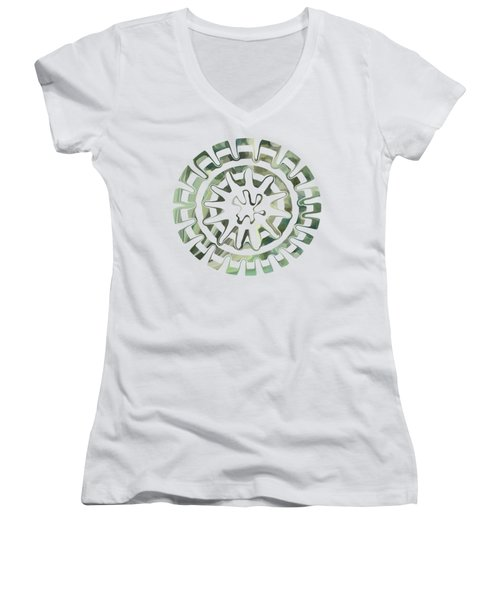 Round About Green Women's V-Neck T-Shirt
