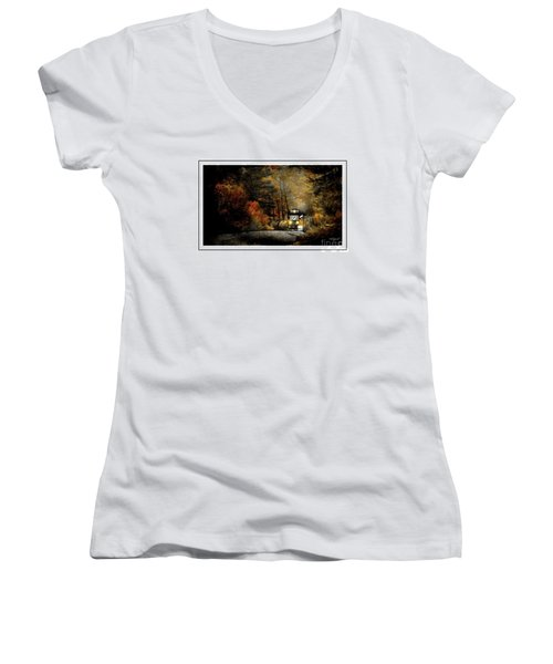 Round The Bend Women's V-Neck T-Shirt