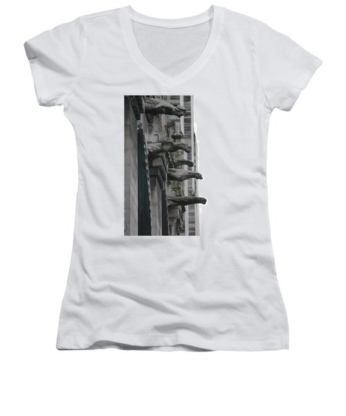 Row Of Gargoyles Women's V-Neck