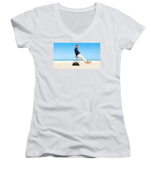 Royal Pains Women's V-Neck T-Shirt