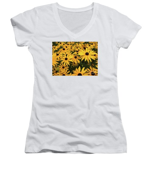 Rudbeckia Fulgida Goldsturm Women's V-Neck (Athletic Fit)