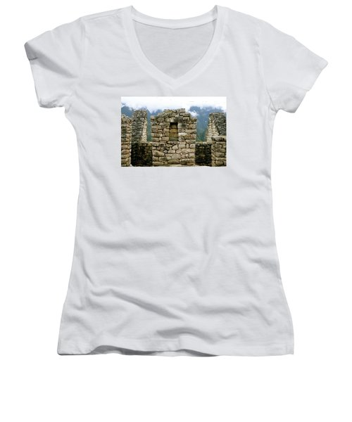 Ruins In A Lost City Women's V-Neck (Athletic Fit)