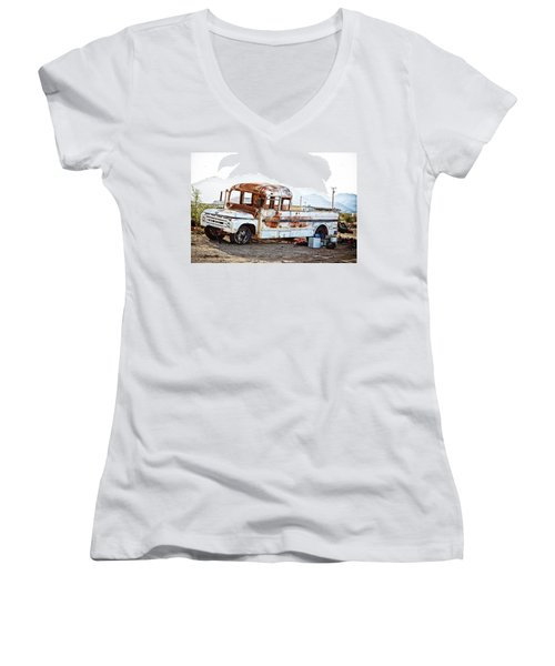 Rusted Abandoned Truck Women's V-Neck