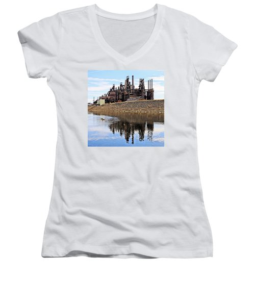 Rusted Relection Women's V-Neck