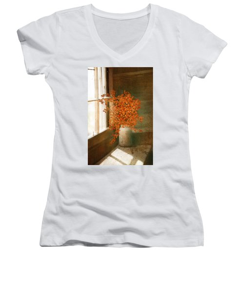 Rustic Bouquet Women's V-Neck