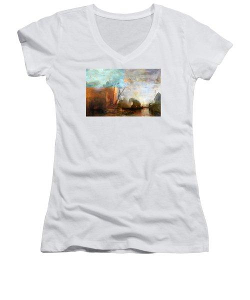 Rustic I Turner Women's V-Neck T-Shirt (Junior Cut) by David Bridburg