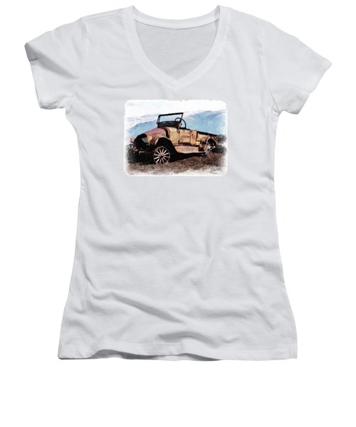 Rusty Women's V-Neck (Athletic Fit)