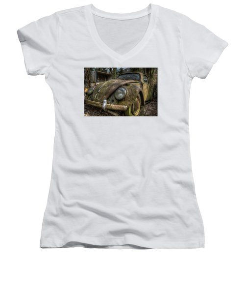 Rusty Vee Dub  Women's V-Neck T-Shirt