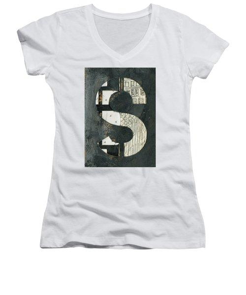 The Letter S Women's V-Neck T-Shirt