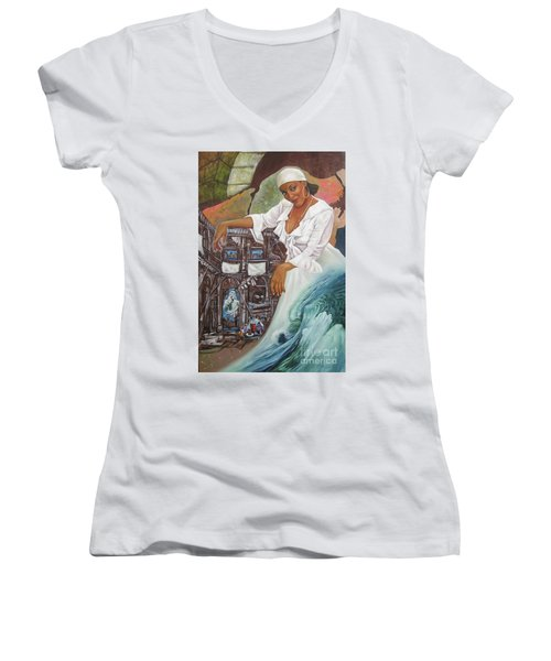 Sabanas Blancas Women's V-Neck T-Shirt